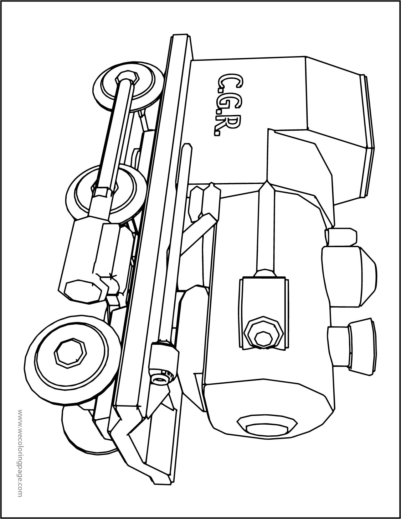 Chuggington Small Train A4 Page Printable Coloring Page
