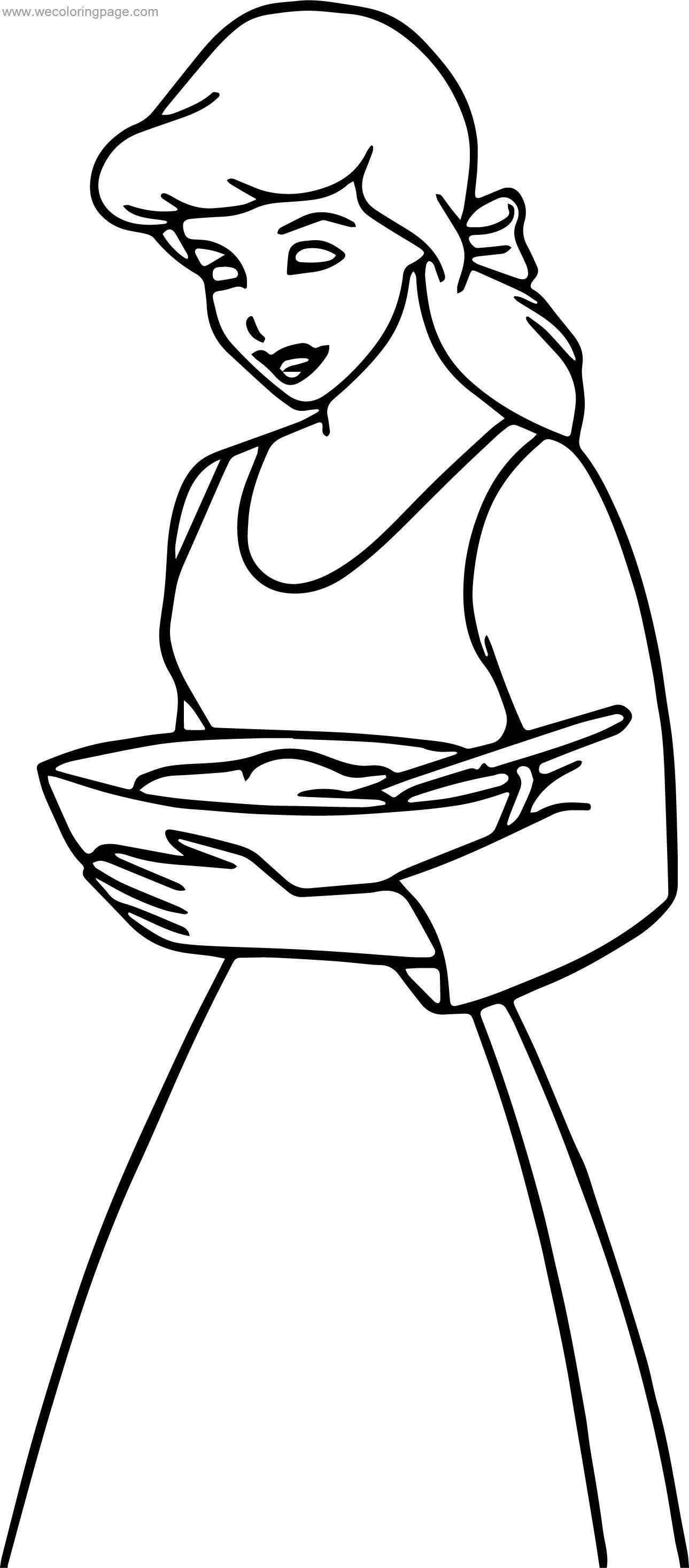 Cinderella Food Coloring Pages