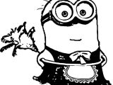 Cleaner Minion Minions Coloring Page