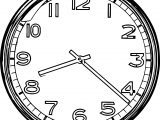 Clock Shine Coloring Page