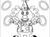 Clown Circle A4 Printable Coloring Page