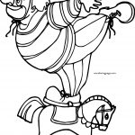 Clown On Horse Toy Coloring Page