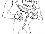 Clown Scream A4 Printable Coloring Page