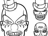 Clown Scream Skull Coloring Page