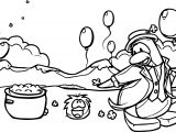 Club Penguin Party Coloring Page