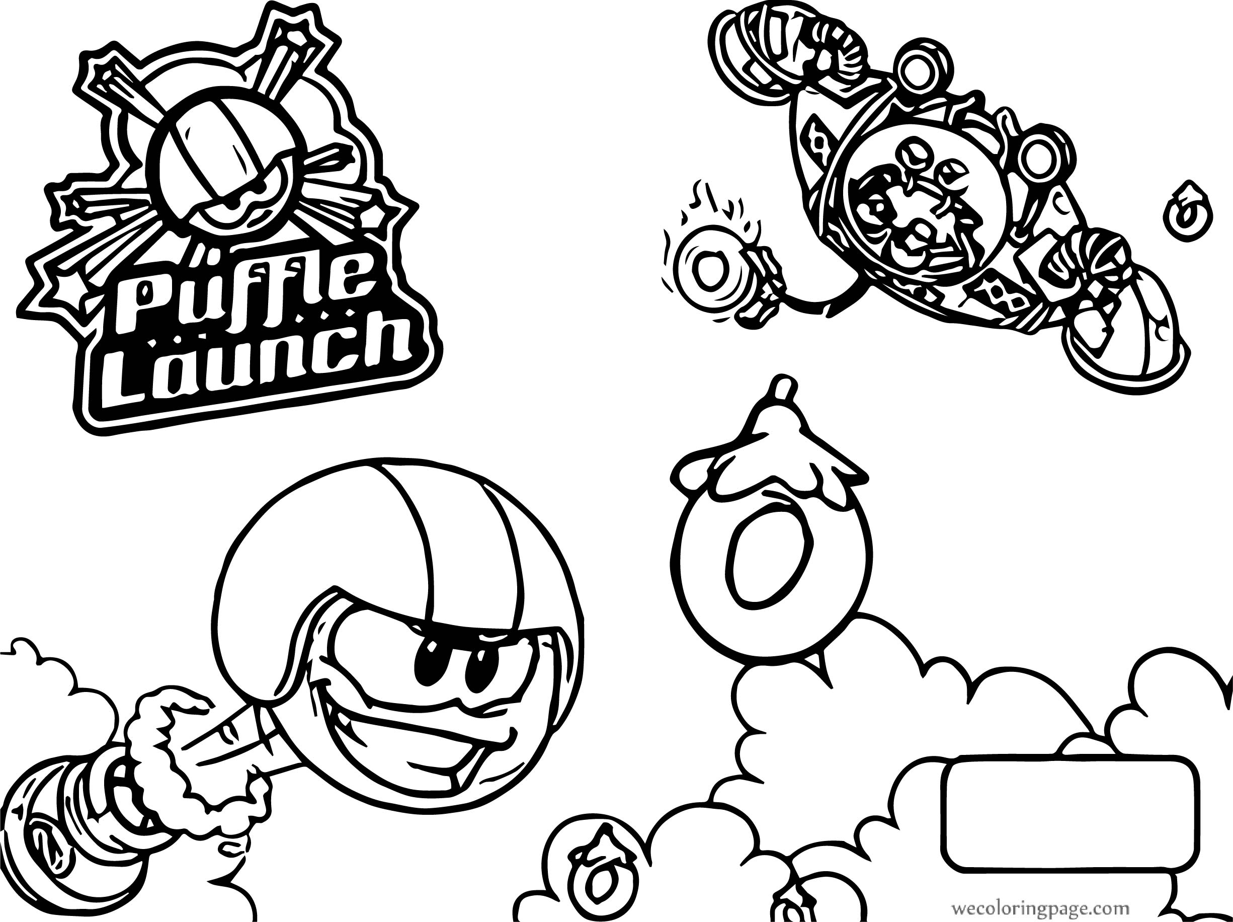 Club Penguin Puffle Launch Coloring Page