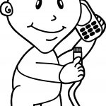 Computer Engineer Baby Telephone Coloring Page