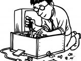 Computer Engineer Box Coloring Page