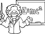 Computer Engineer Einstein E Mc2 Coloring Page