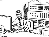 Computer Engineer Room Coloring Page