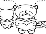 Crying Bear Characters Coloring Page