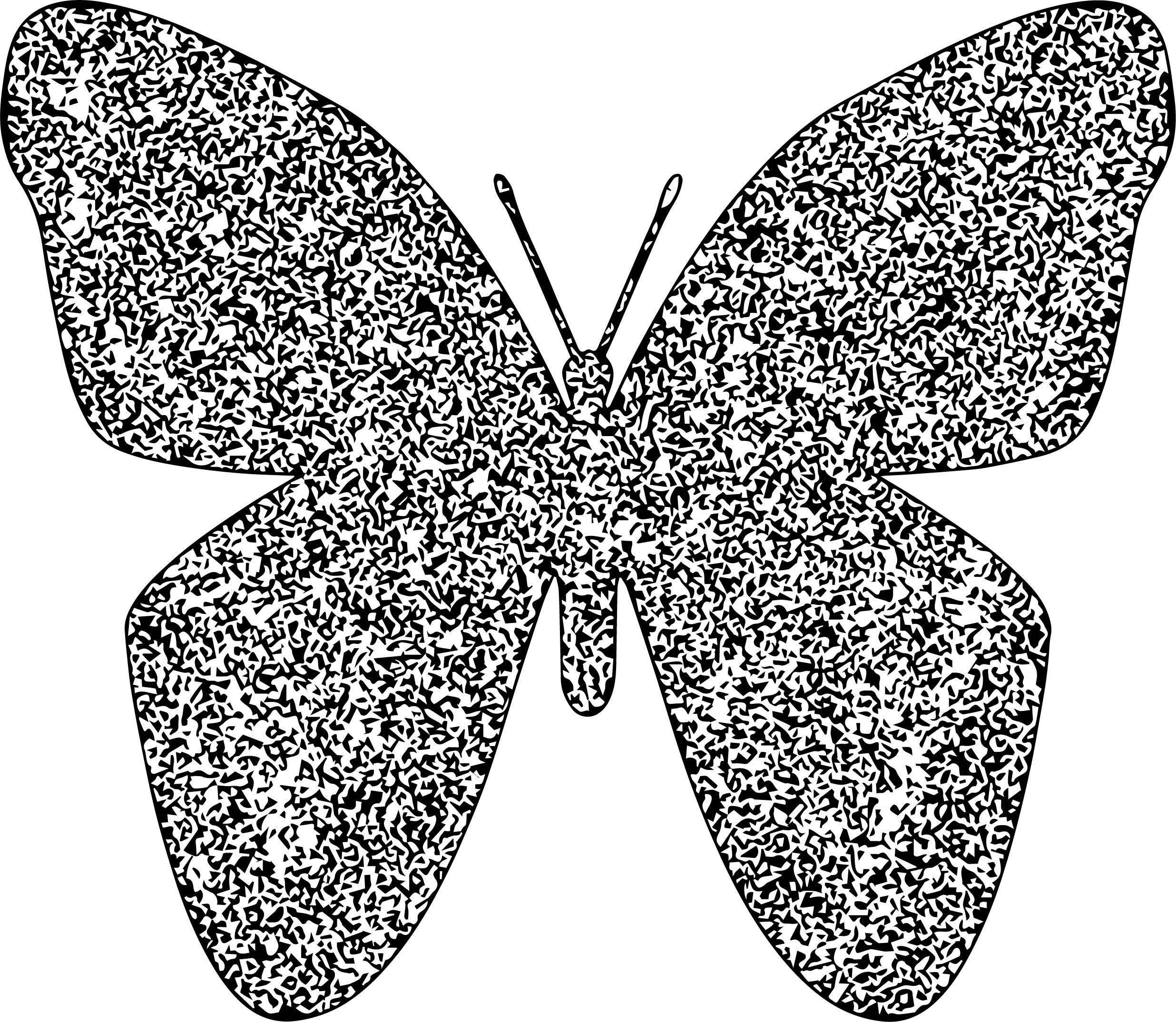 Crystal Butterfly Coloring Page
