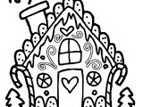 Cute Gingerbread House Gingerbread House Coloring Page