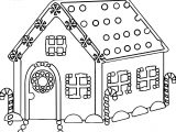 Cute House Gingerbread House Coloring Page