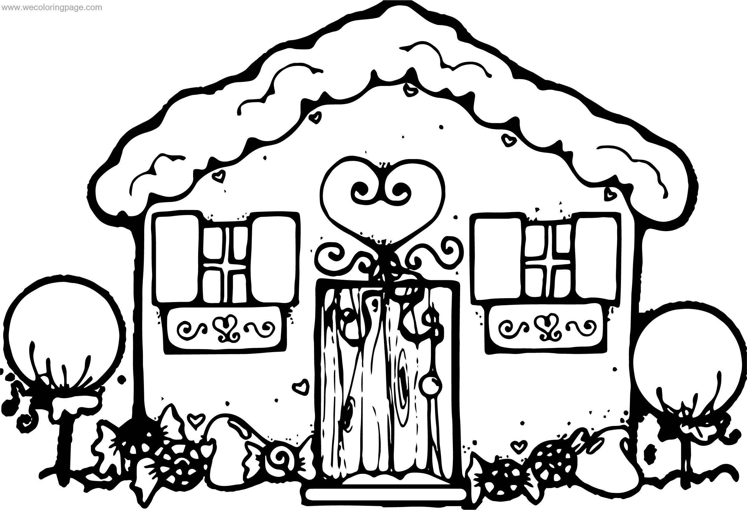 Dazzle Dec Gingerbreadhouse Gingerbread House Coloring Page