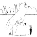 Other Descending From The Mountain Wolf Model Coloring Page