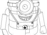 Despicable Me Minion Robot Coloring Page