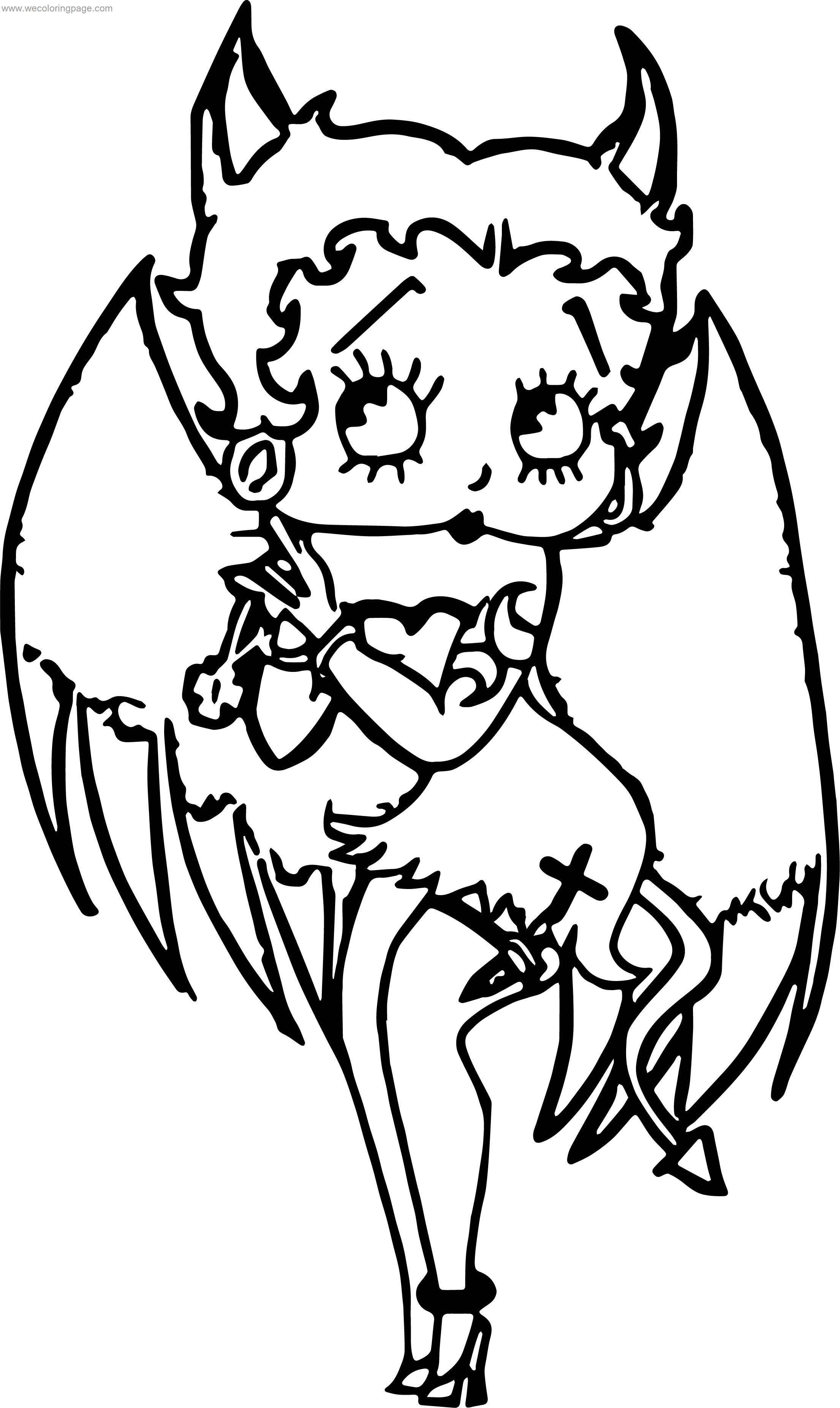Devil betty boop coloring page for Devil coloring pages