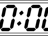 Digital Clock Ten Coloring Page