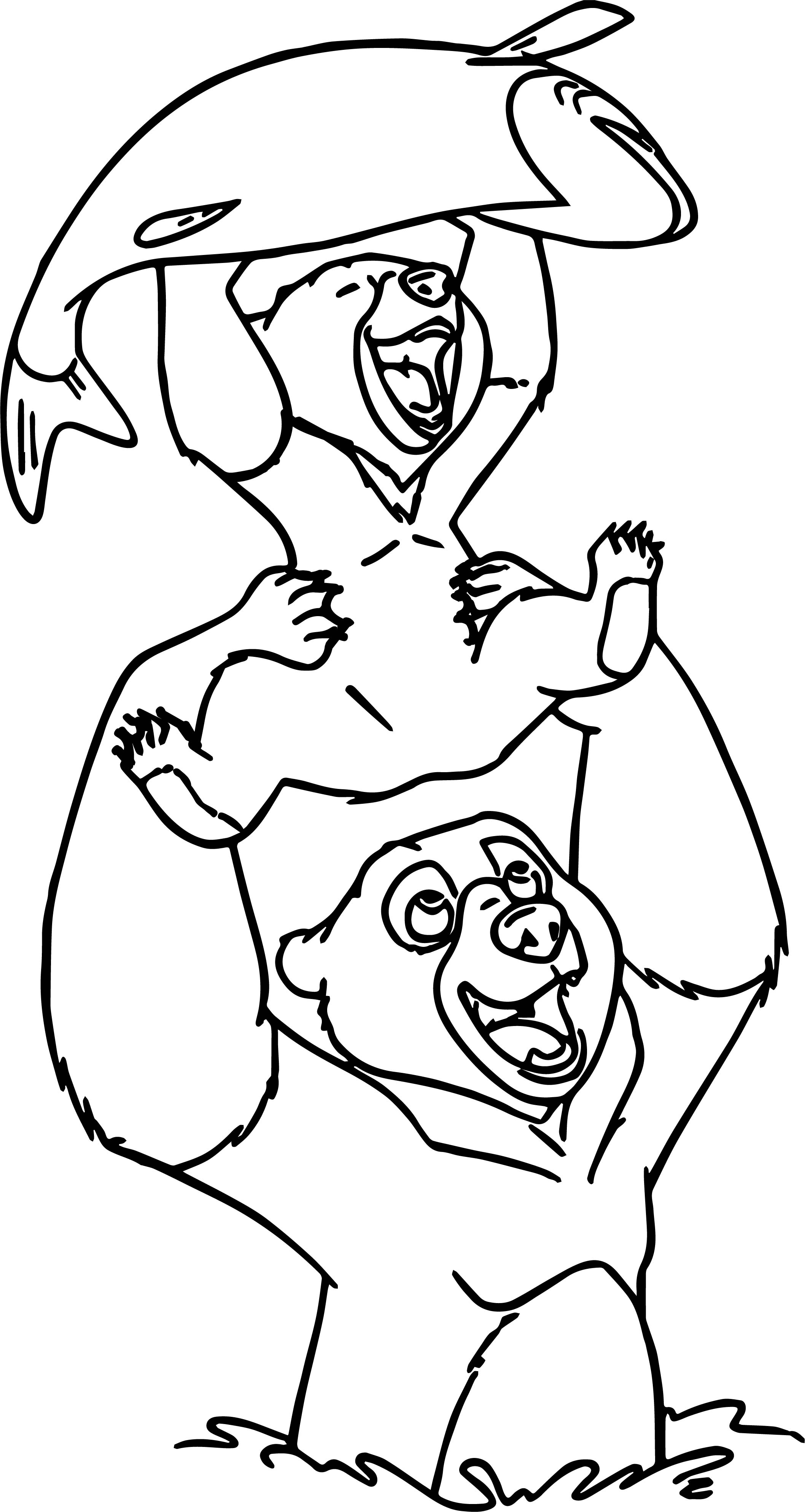 Disney Brother Bear Catch Fish Coloring Pages
