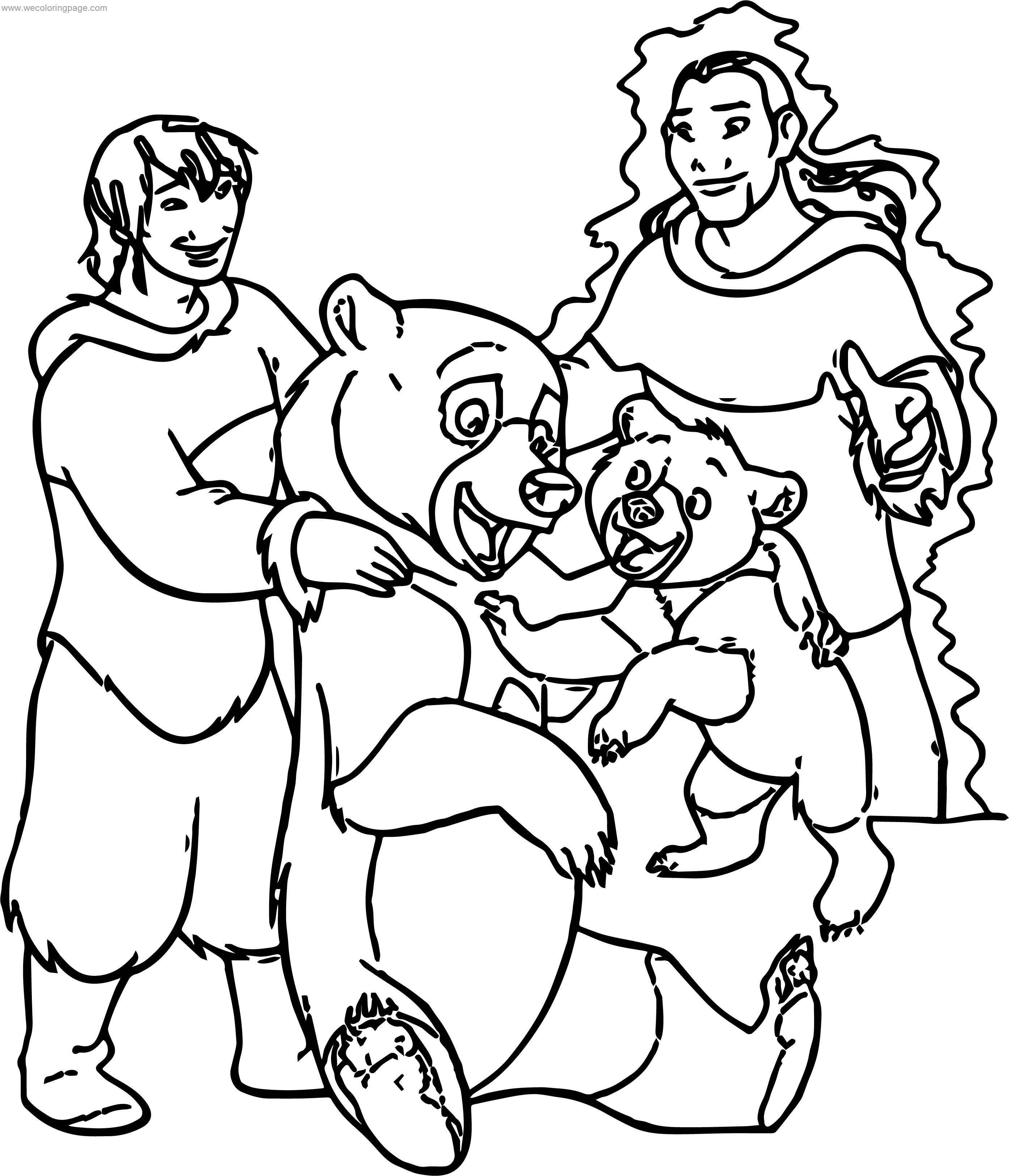 Disney Brother Bear Family Coloring Pages