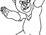 Disney Brother Bear Fight Coloring Pages