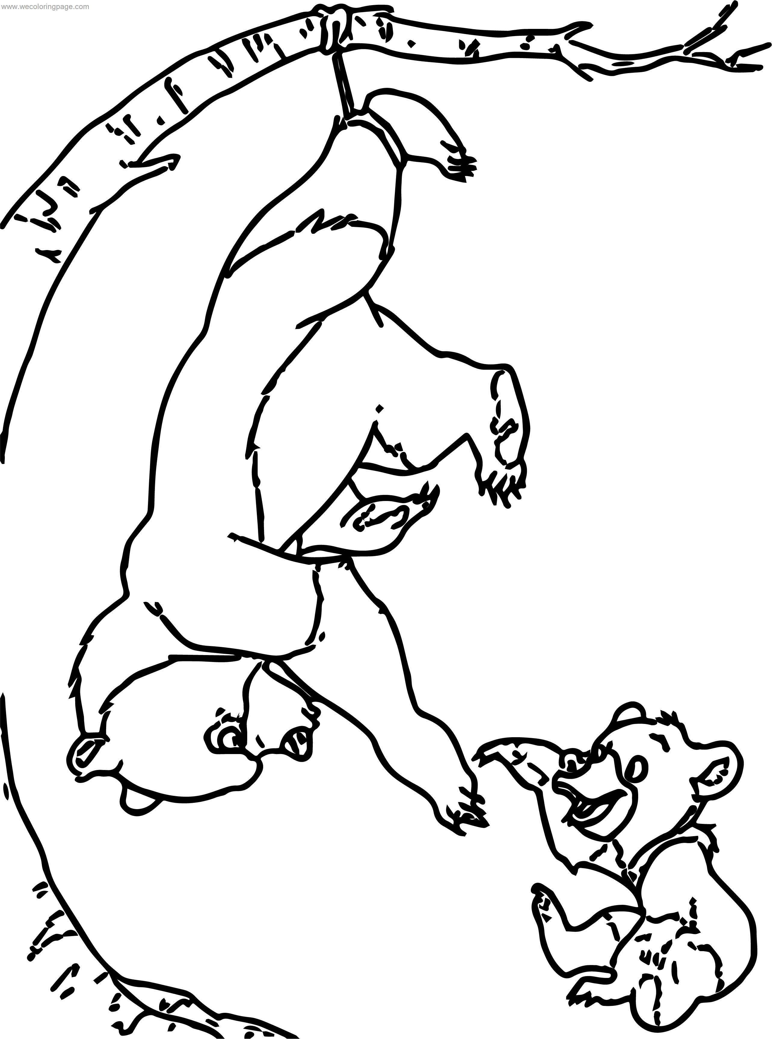 Disney Brother Bear Tree Coloring Pages
