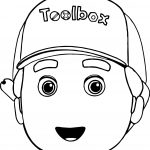Disney Handy Manny Face Toolbox Coloring Page