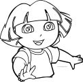 Dora The Explorer Face Coloring Page