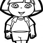 Dora The Explorer Front View Coloring Page