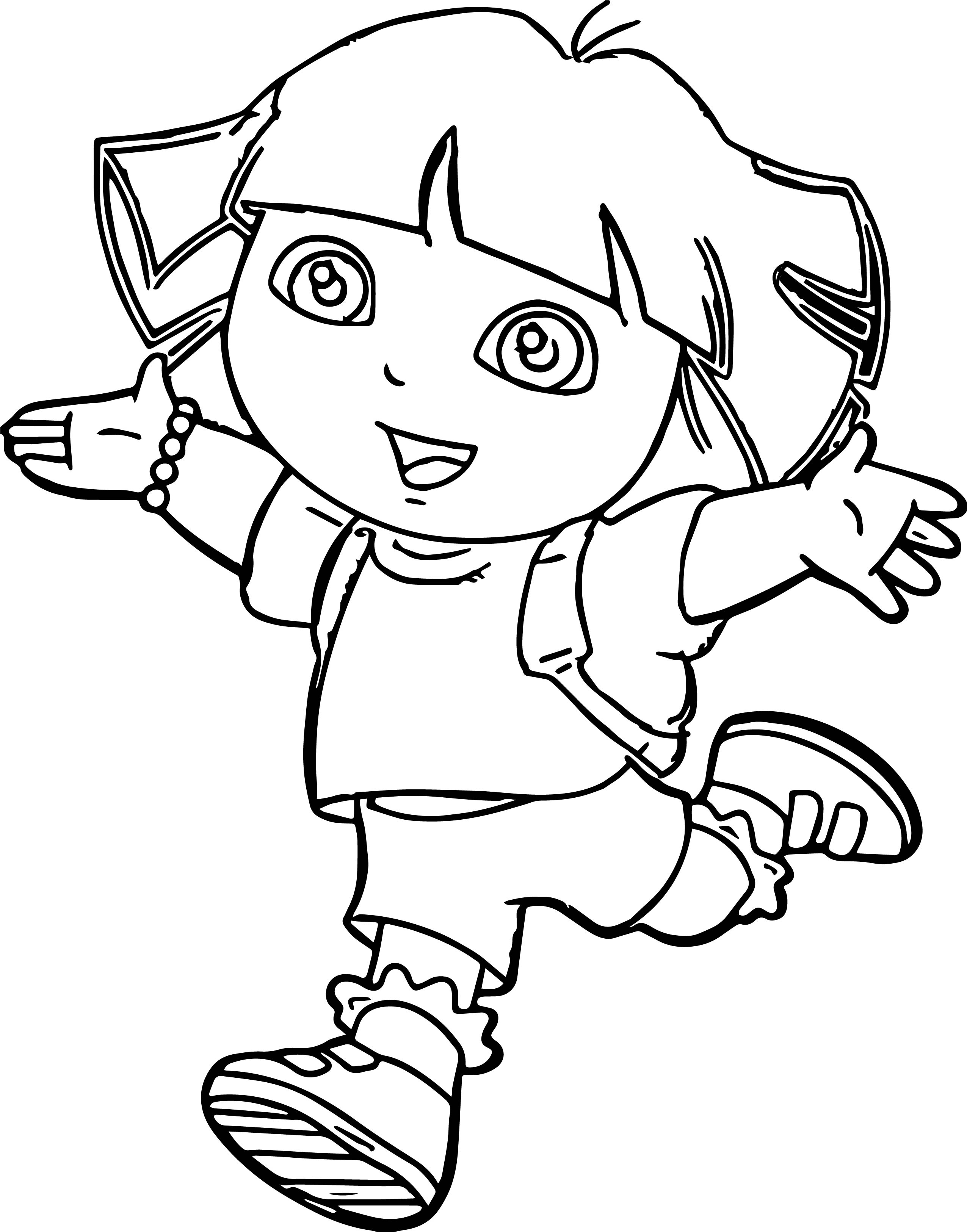 Dora The Explorer Fun Coloring Page