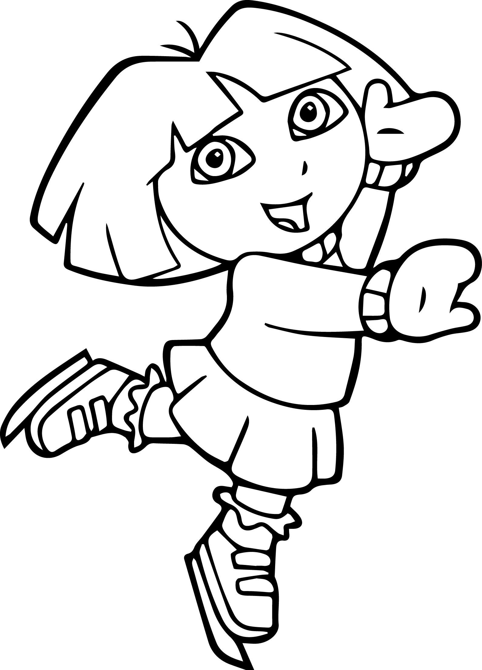 Dora The Explorer Ice Skate Coloring Page