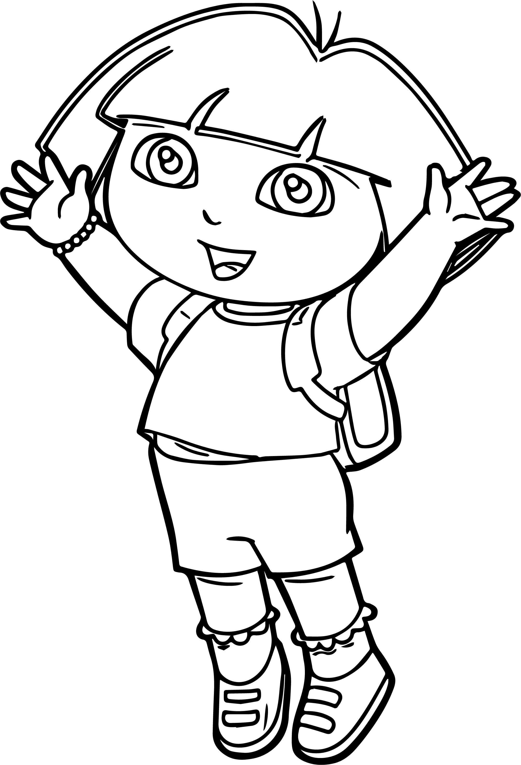 Dora The Explorer Jump Coloring Page