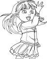 Dora The Explorer Magic Coloring Page