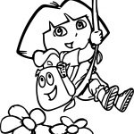 Dora The Explorer Rope Up Coloring Page