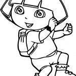 Dora The Explorer Walking Dance Coloring Page