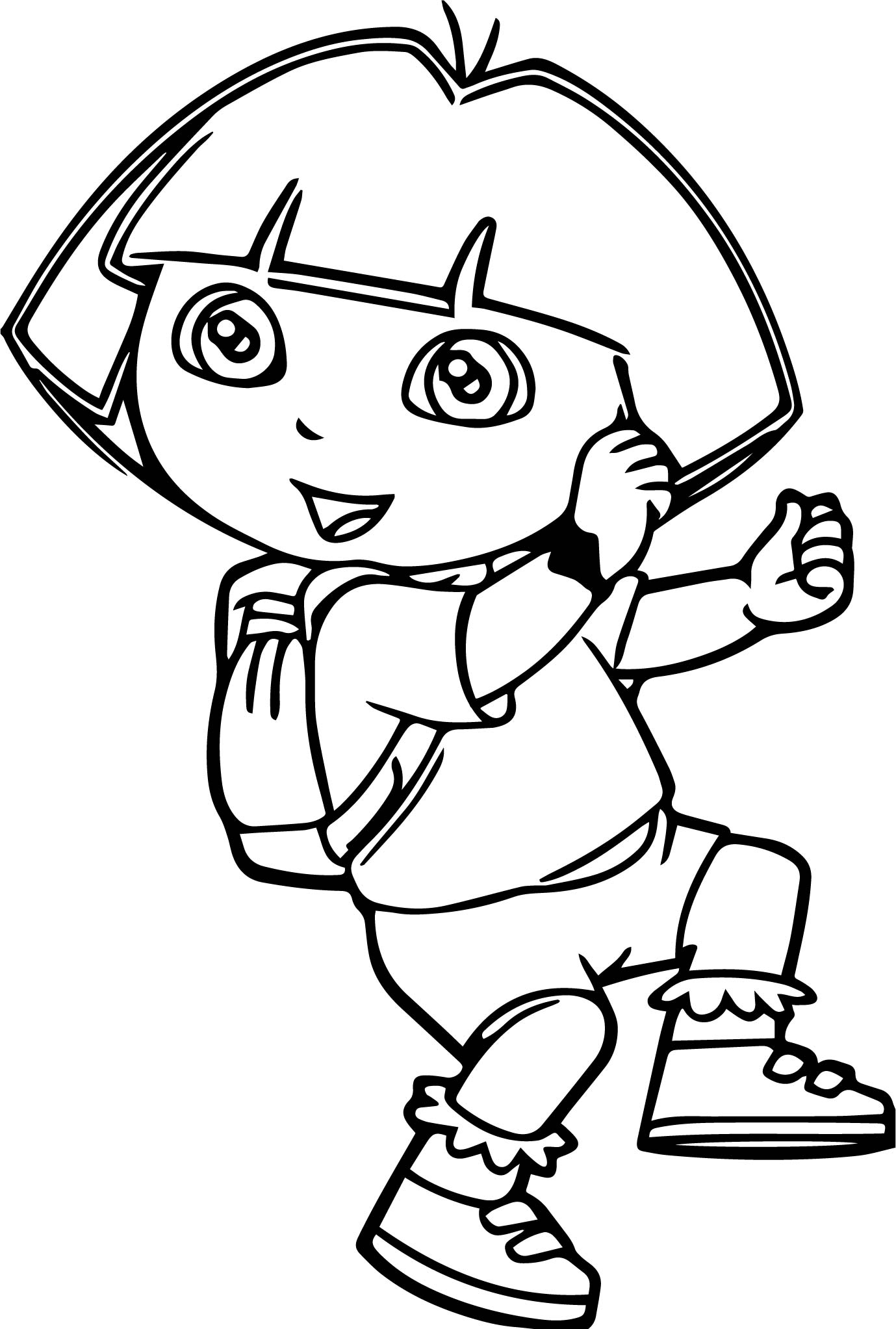 Dora The Explorer Walking Dance Coloring Page
