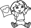 Dora The Explorer Wallpapers Heart Coloring Page