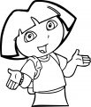 Dora The Explorer Whats Up Coloring Page