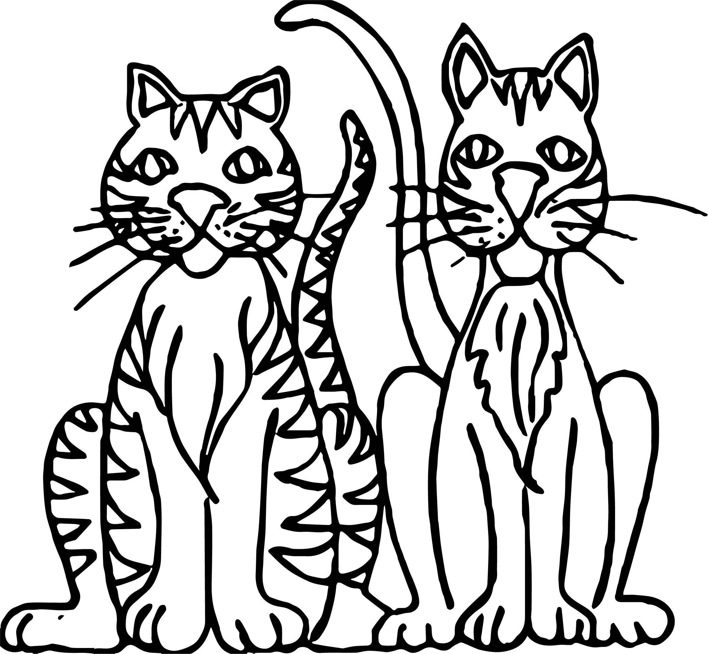 Each Cat Coloring Page
