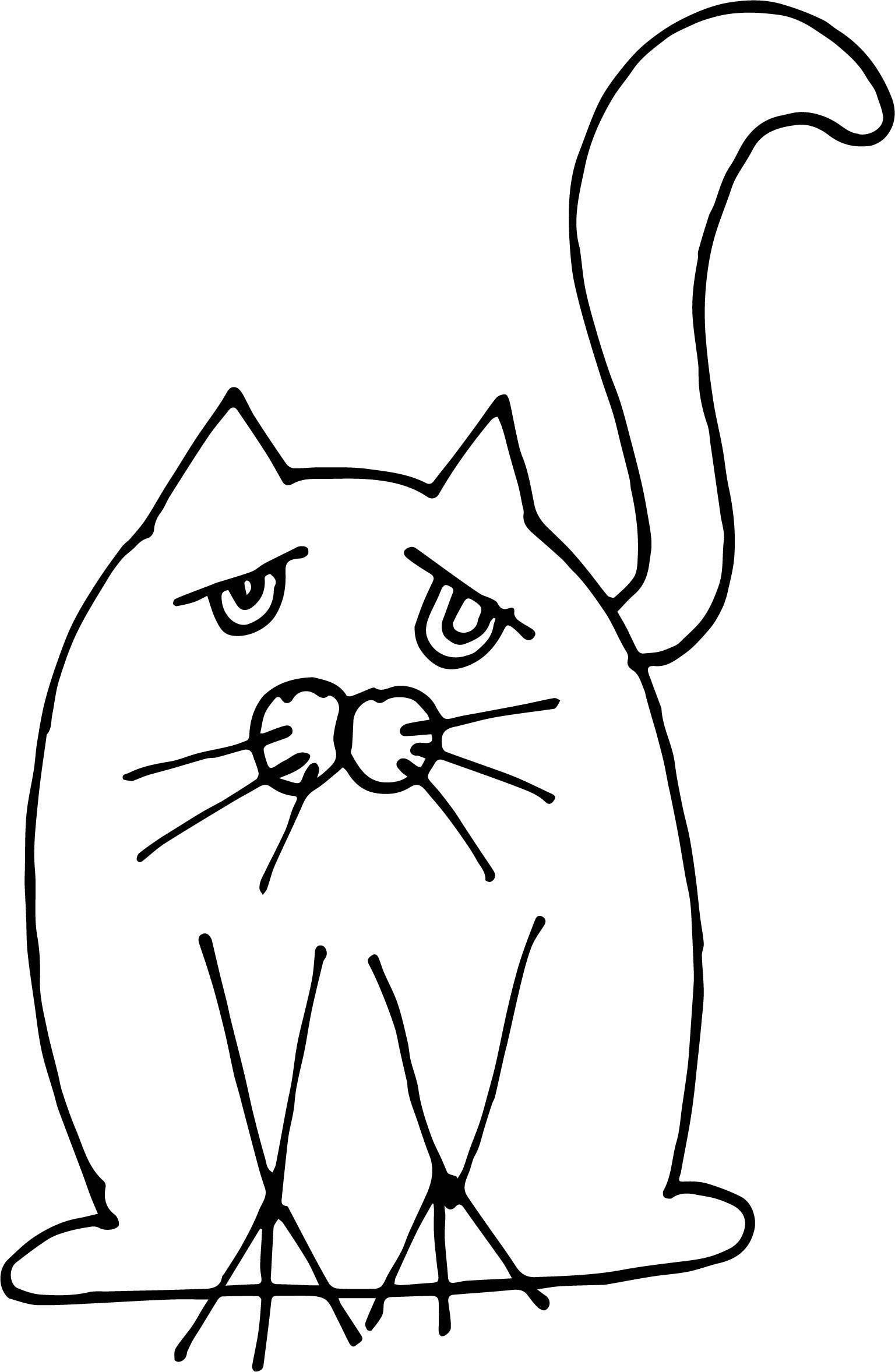 Earth Cat Coloring Page