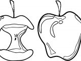 Eat And Full Apple Coloring Page