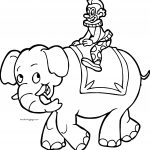 Elephant Clown Cartoon Boy Coloring Page