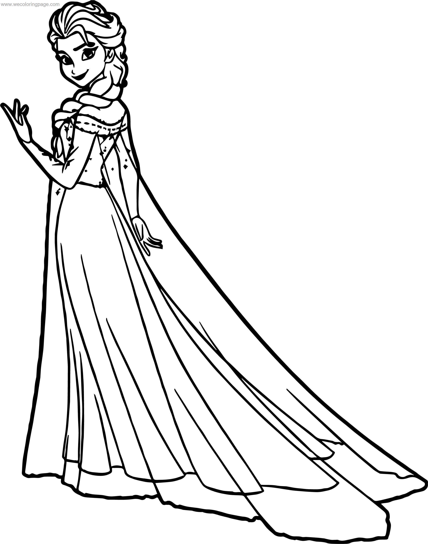 Elsa Magic Hand Coloring Page