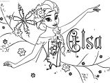 Elsa Name Coloring Page