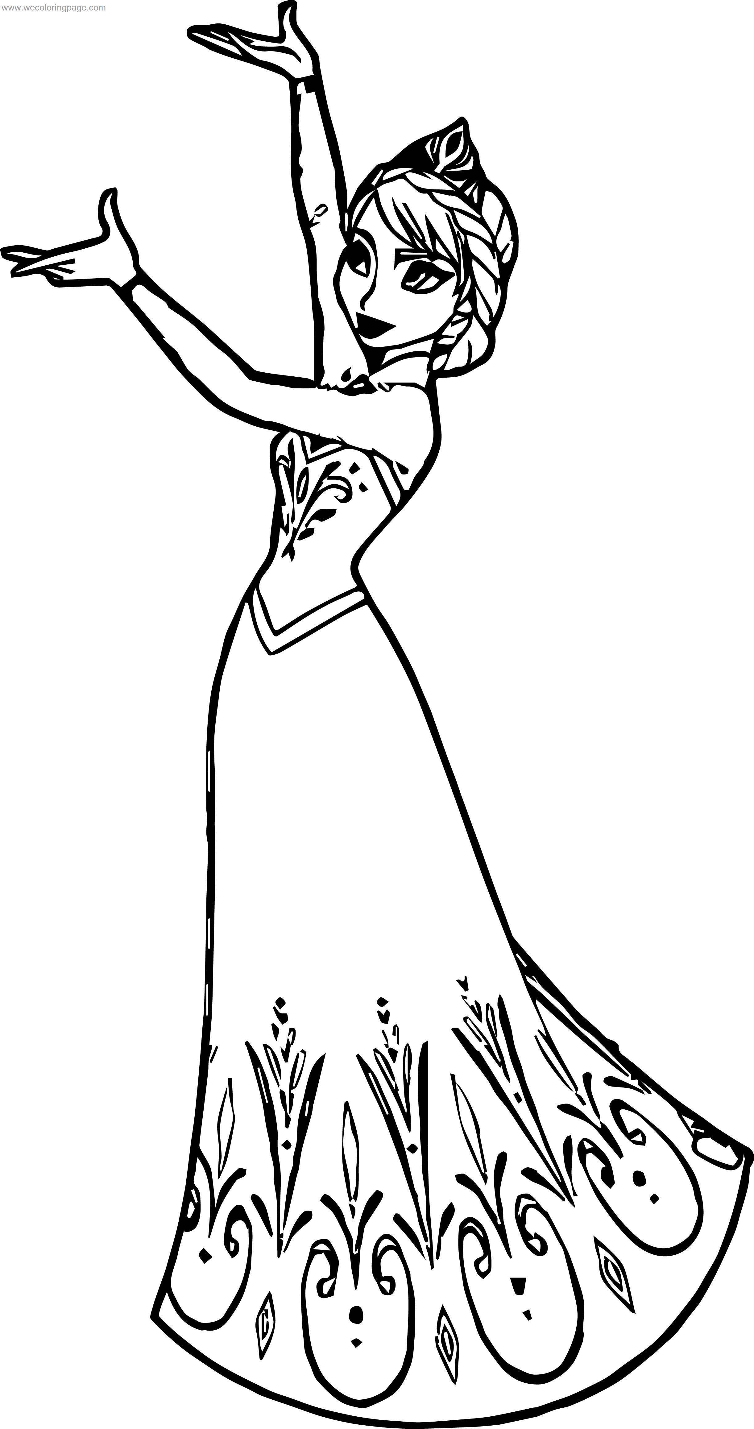 Elsa Queen This Coloring Page