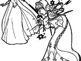 Elsa Strikes Anna Coloring Page
