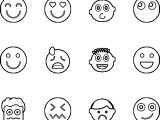Emoticon Set Coloring Page