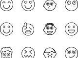 Emoticon Set Coloring Page