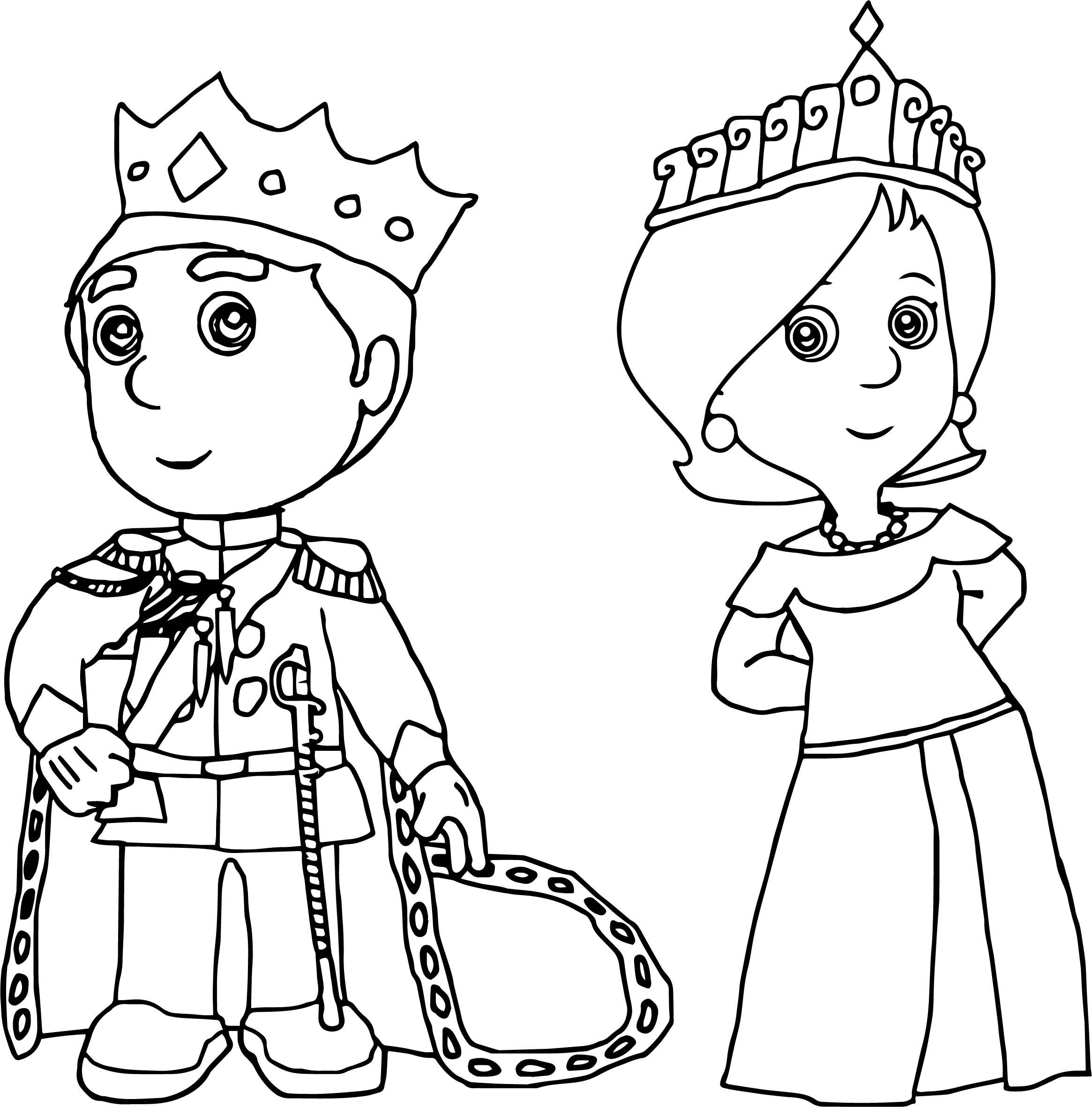 Emperor Manny And Empress Kelly Handy Manny Coloring Page - Handy-manny-coloring-page